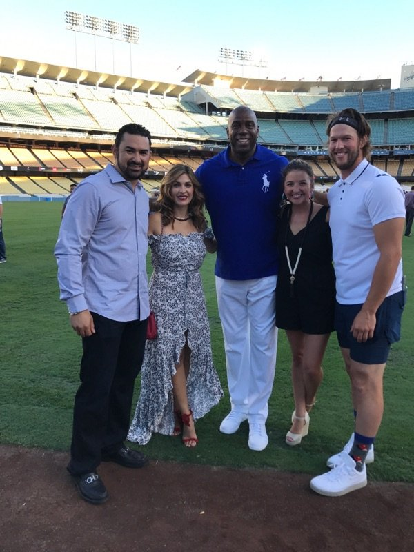 Came out to support @ClaytonKersh22 at Kershaw's Challenge #PingPong4Purpose & ran into @Adrian_ElTitan and Betsy.