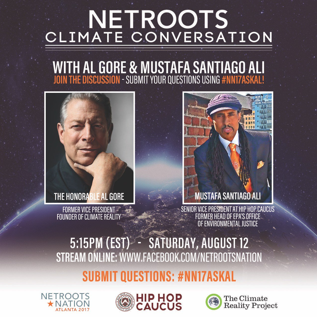 Excited to join @EJinAction of @HipHopCaucus on stage in Atlanta for #NN17ASKAL! https://t.co/Scue6SNIha