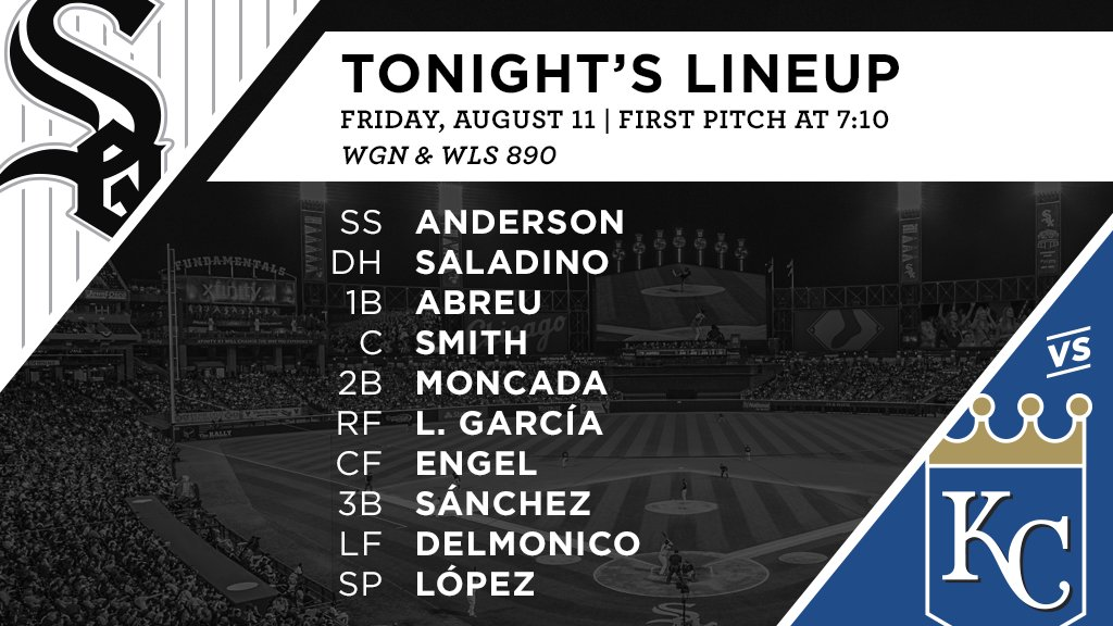 Tonight's #SoxGameDay starters: https://t.co/mCmY4t3i9Z