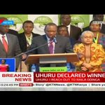 Uhuru Kenyatta's message to Raila Odinga after announcement of presidential results
