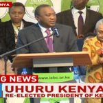 Uhuru Kenyatta's address to the nation after being re-elected as President of Kenya