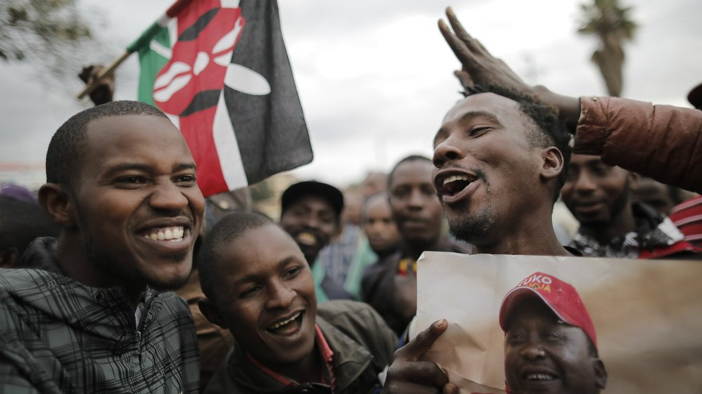 President Uhuru Kenyatta wins Kenya's presidential election