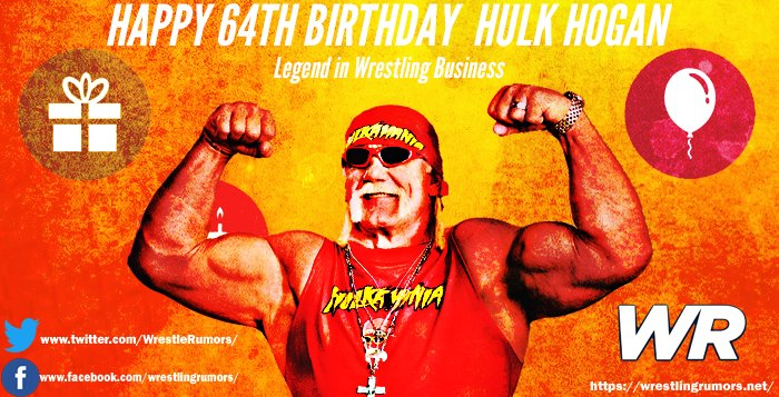 Happy 64th Birthday Hulk Hogan!  What are your favorite memories of Hogan?  Let us know!