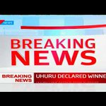 President Uhuru Kenyatta and DP William Ruto receive their certificates