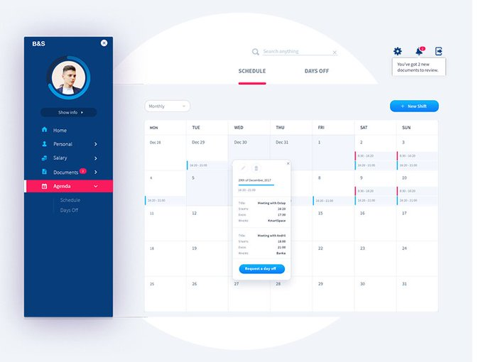 Corporate service dashboard   Template freebie
