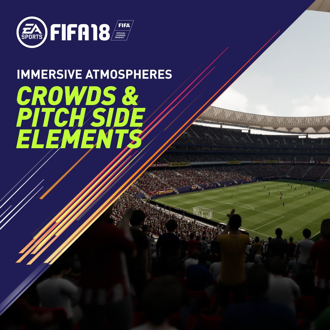 RT @EASPORTSFIFA: Get the fans on their feet, then join them in celebration #FIFA18 https://t.co/i6Bfkw72Km
