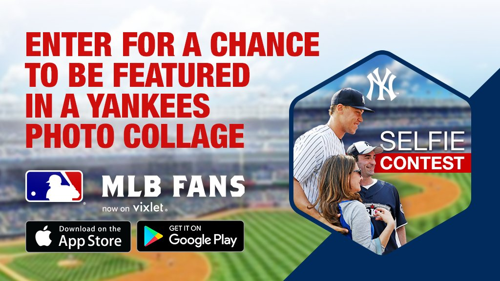 Selfie game strong? Prove it in the Yankees selfie contest on the MLB Fans app: https://t.co/sf7rXUOCCH https://t.co/1hfoUfOSCz