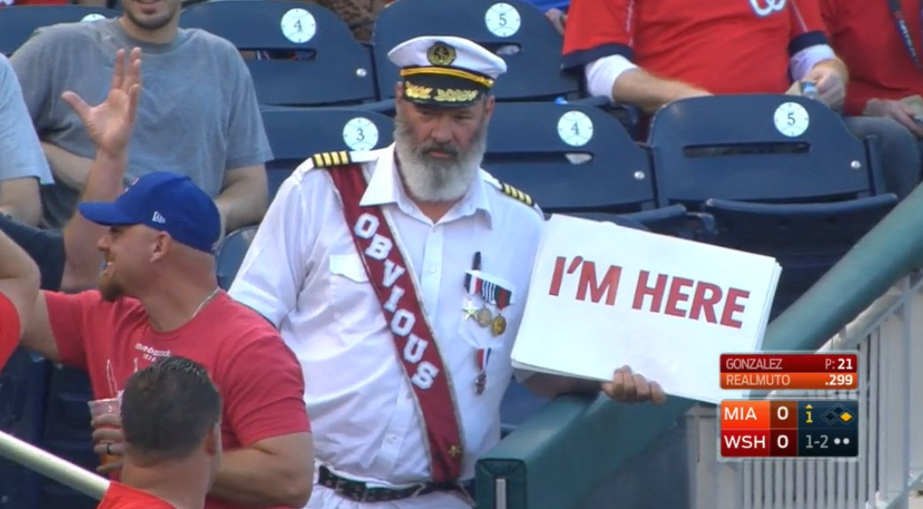 Captain Obvious is in the stands. #ThanksCaptainObvious https://t.co/3KSH4sLHvT