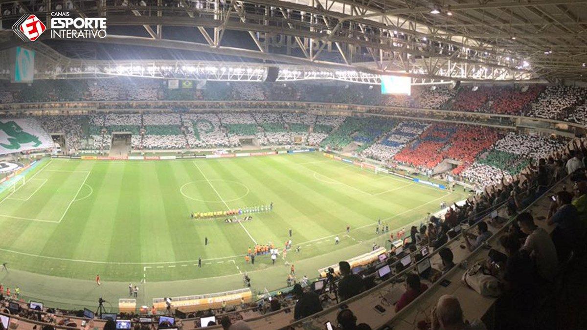 Dá uma olhada no lindo mosaico que a torcida do Palmeiras fez no Allianz  Parque! 5b02db3b0cdc3