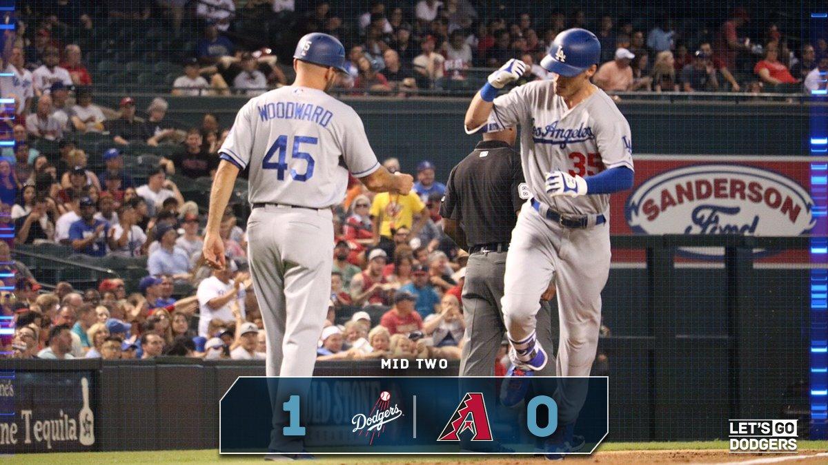 Mid 2:  #Dodgers 1, D-backs 0  ☝️ https://t.co/o56sY3LJ1i