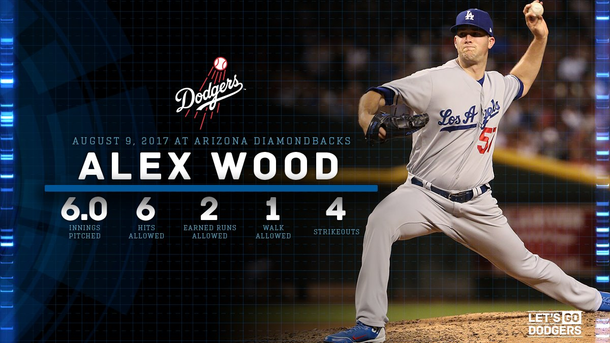 .@Awood45's final line tonight. #LetsGoDodgers https://t.co/jUPAp3g2zW
