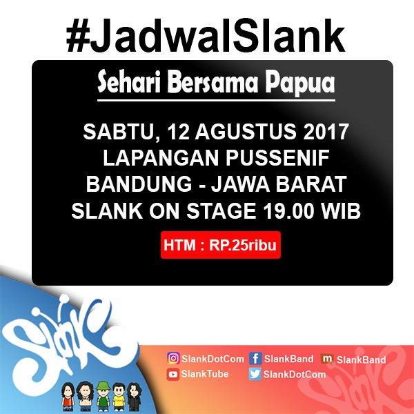 Sampai ketemu hari Sabtu, di Bandung! Cek #JadwalSlank di https://t.co/Ct0TZuczfp https://t.co/O7eOsR9ZKE