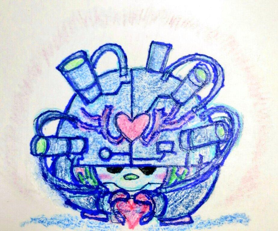 8月10日(ハートの日)と言う事で、久しぶりにハートミン描いてみた|ω`)~♪やっぱり頭難しい(>_<)(下