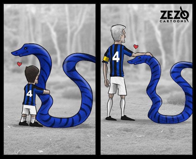 Zanetti & Inter Milan .. Together forever Happy birthday Javier Zanetti