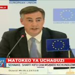 EU Parliament representative David McAllister's calls on candidates to let IEBC carry out their work