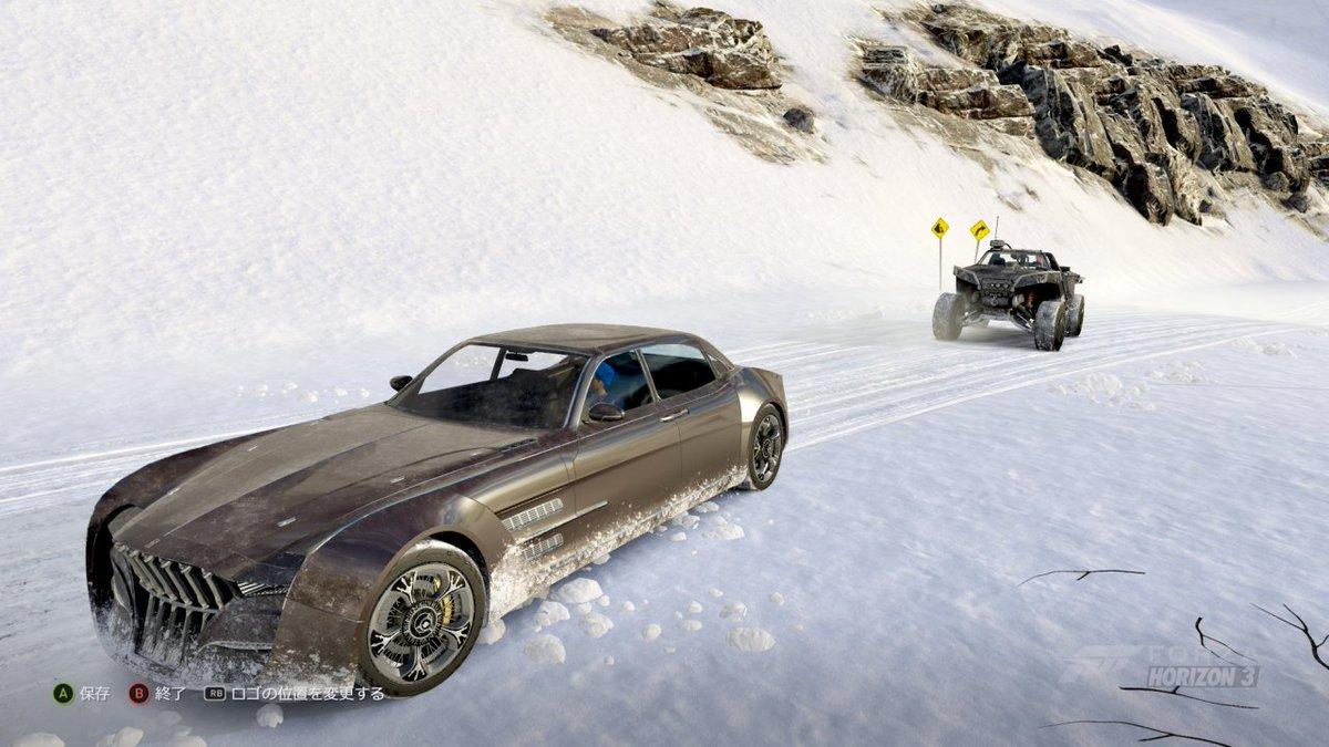 レガリアとワートホグという架空の車同士が現実の車と共にレースする光景w #ForzaHorizon3 #箱ショット