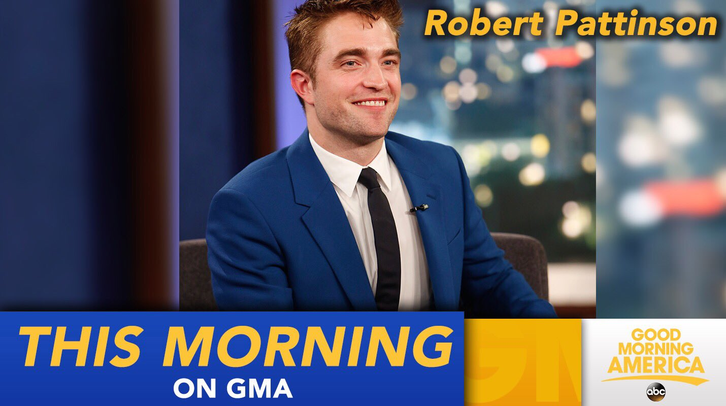 COMING UP ON @GMA: Robert Pattinson joins us LIVE in Times Square! https://t.co/Tr9icuKMVj