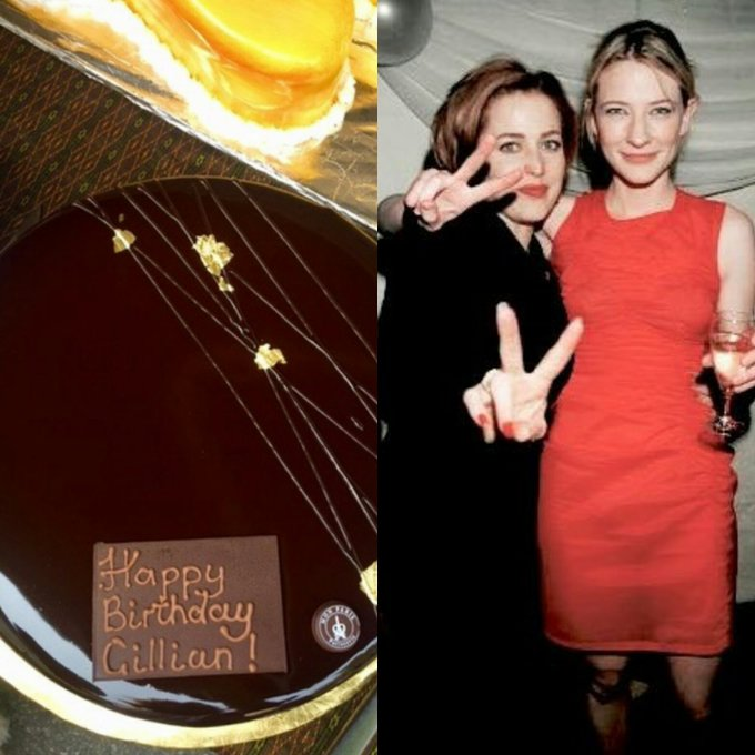 Happy bday Gillian Anderson Cate blanchett