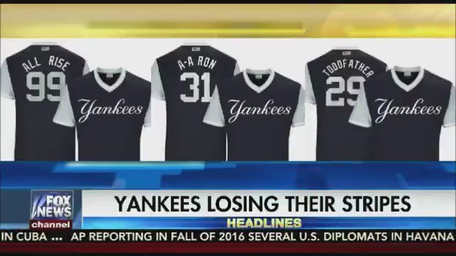 STRIPES ARE OFF: For the first time since 1915 the Yankees won't wear pinstripes at home https://t.co/jazJ1esLEO