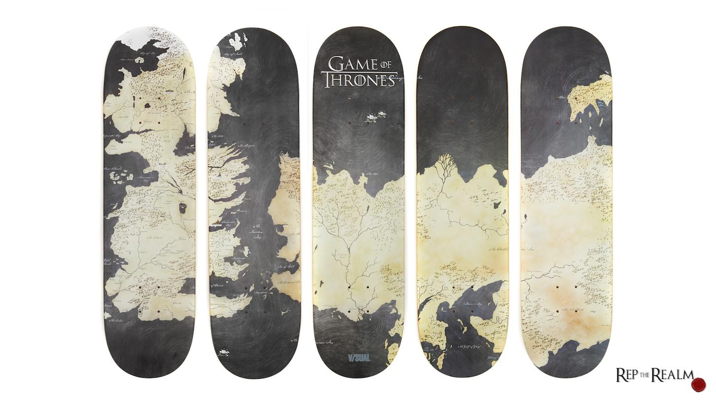 Shred Westeros on these Game of Thrones map skateboards: https://t.co/KfqG2wUzy4 https://t.co/JKsBGZ69Vh