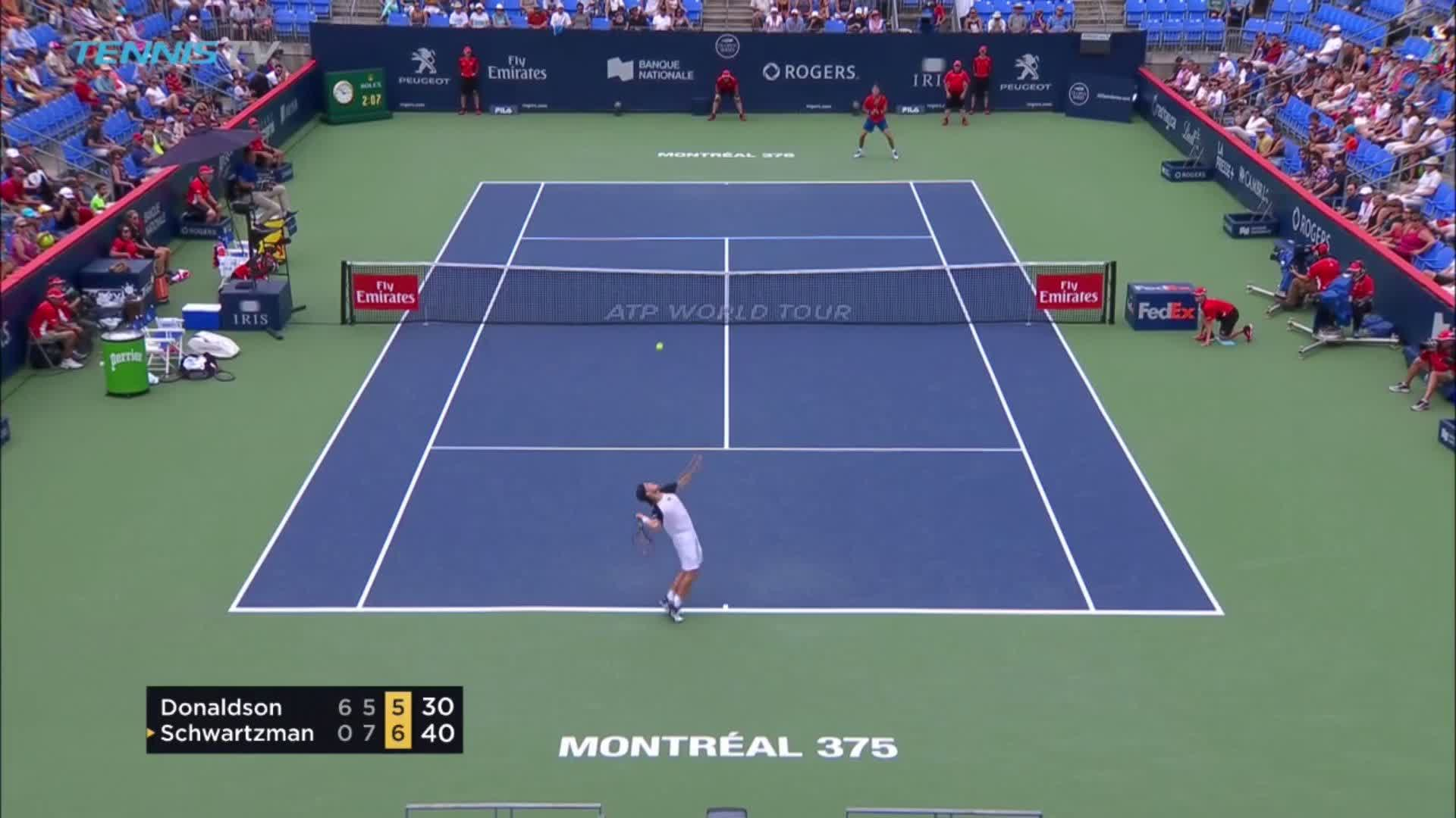 Go Go Diego!   Schwartzman battles back from a set and break down to reach the @CoupeRogers quarterfinal. �� https://t.co/MfiE7YD7c9