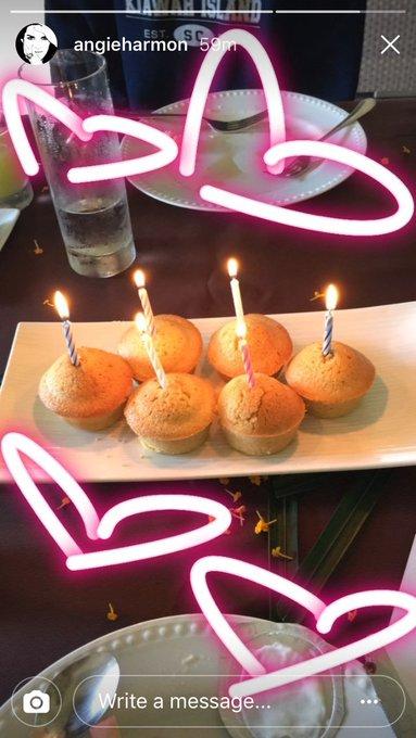 Happy birthday,     (via Angie\s Instagram story)