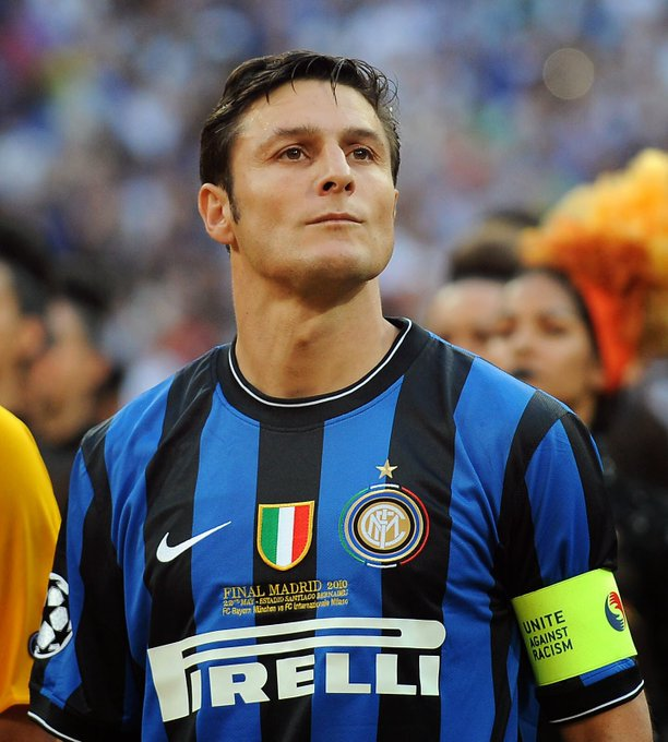 Loyalty, honesty and professionality. Happy 44th birthday to the one and only Javier Zanetti