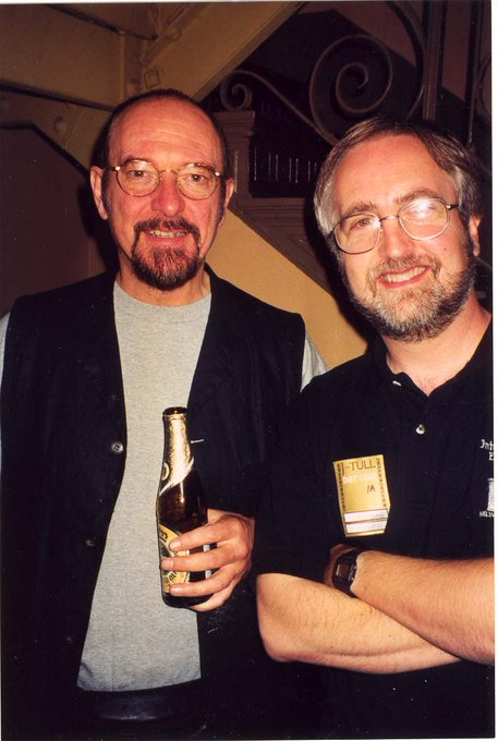 Happy 70th Birthday to IAN ANDERSON An inspiration and a friend (pic of us from 1999 Chicago).