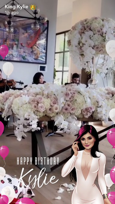 Kylie jenner gets a snapchat filter for her birthday today and I get my period x happy birthday me