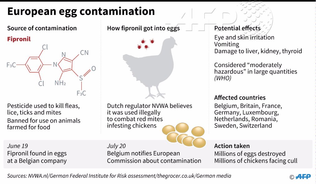 Two arrested as Europe egg scandal spreads east