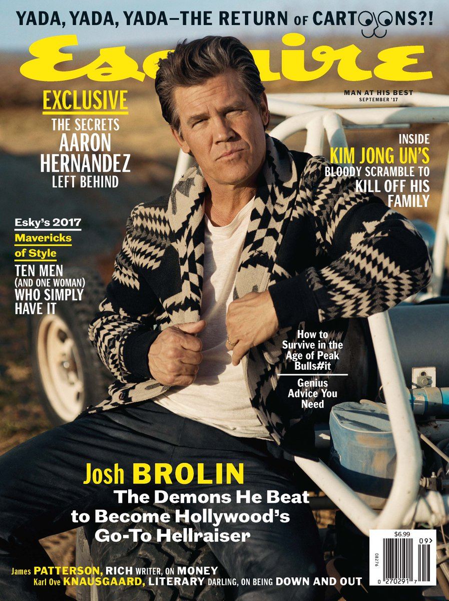 #JoshBrolin featured wearing Ralph Lauren Purple Label Fall Collection in the September issue of @Esquire. https://t.co/siQX0RHgM3