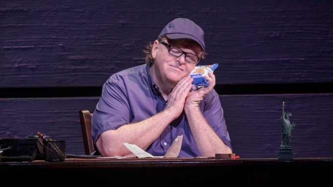 Broadway review: Michael Moore's (@MMFlint) 'The Terms of My Surrender' https://t.co/wwoj2w9Rt2 https://t.co/1MrY0RHrzi