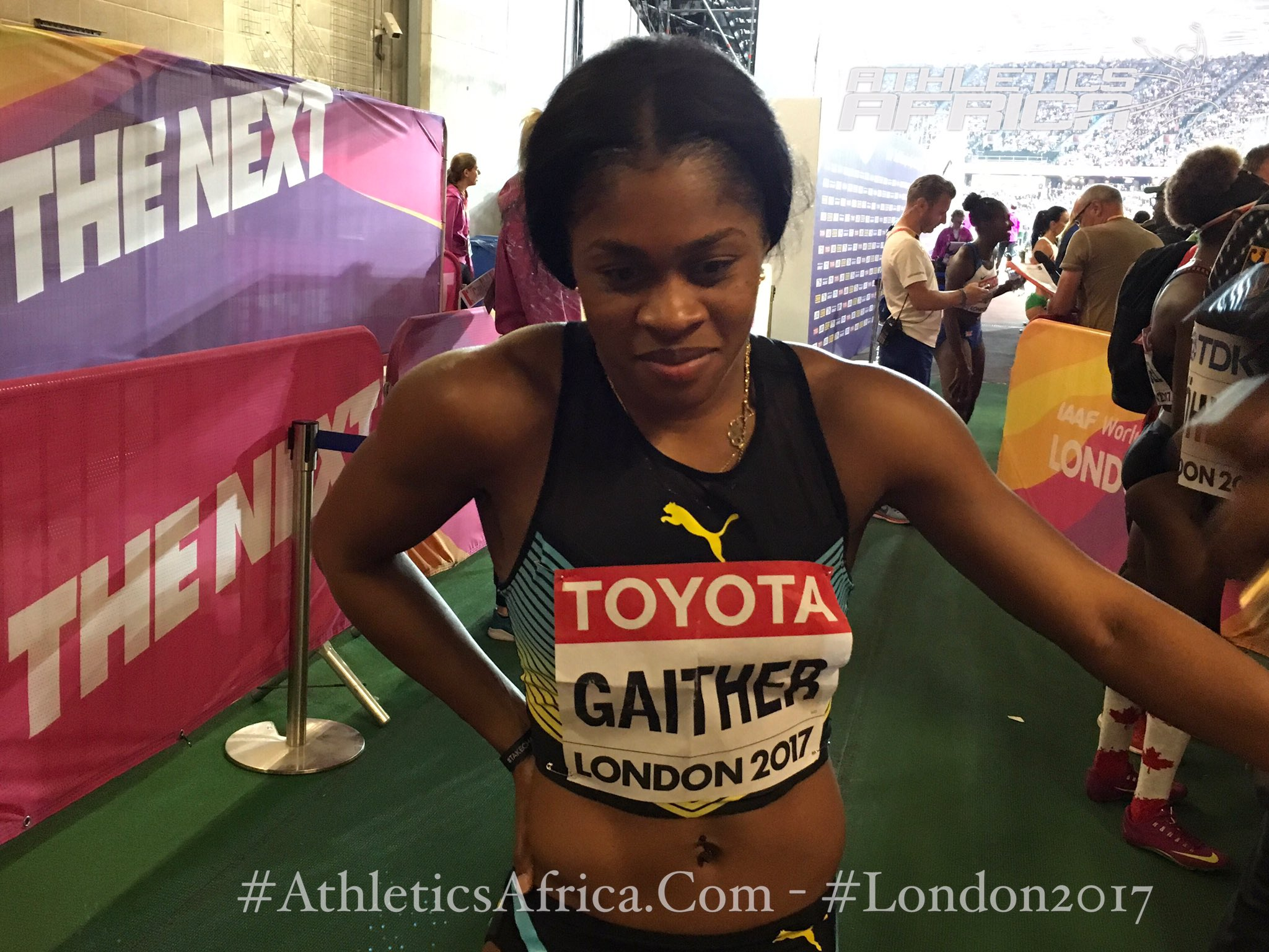 📸/ Tynia Gaither of the #Bahamas was the last qualifier for the women's 200m Final on Friday evening with 22.85. #London2017 #tyniagaither https://t.co/N9YunxZ1kB