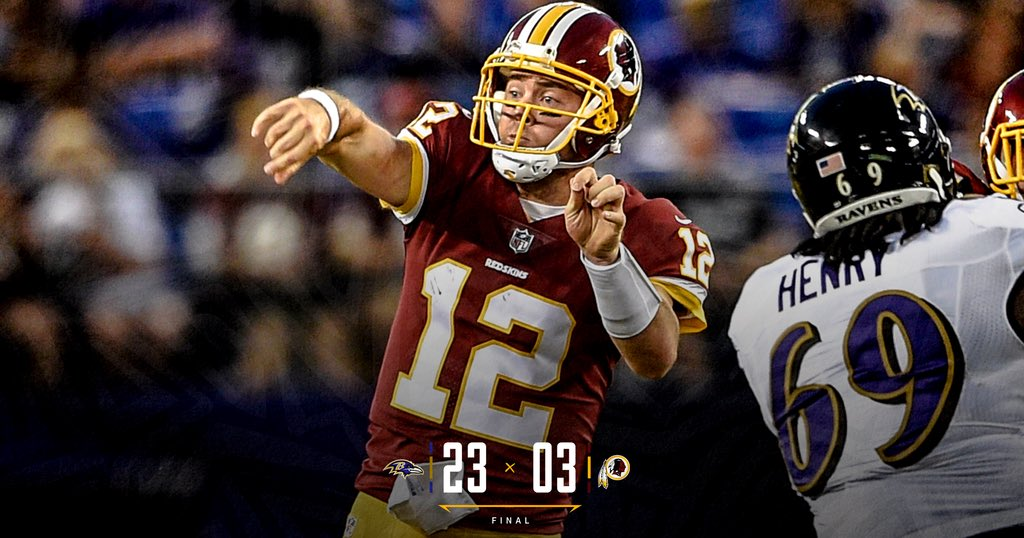 Final from #WASvsBAL. https://t.co/d6EAgRfjFP