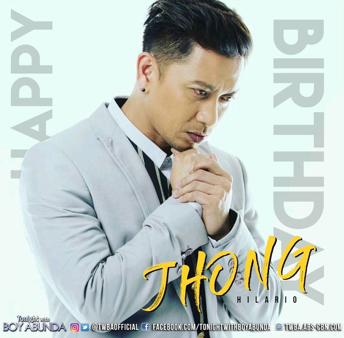 Happy Birthday Jhong Hilario! Enjoy your day and always live in ABUNDANCE!
