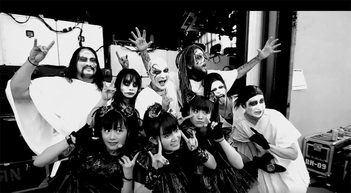 Watch @Korn guitarist Brian 'Head' Welch join @BABYMETAL_JAPAN onstage; https;//t.co/XsCmofHtkI h...