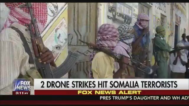FOX NEWS ALERT: 2 US drone strikes in Somalia target Al Qaeda and Al-Shabaab https://t.co/MqrY7zbMy2