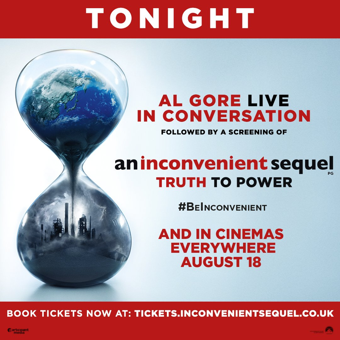 Looking forward to discussing @aitruthfilm with UK audiences tonight. #BeInconvenient https://t.co/JeaVKKbSA8 https://t.co/pZKiA010SU
