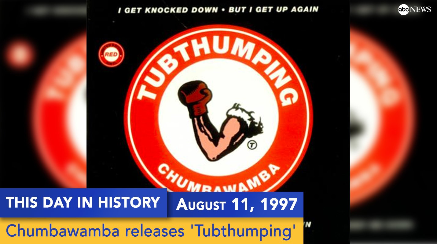 'Tubthumping' by Chumbawamba was released on this day 20 years ago https://t.co/bx7uksCFPR