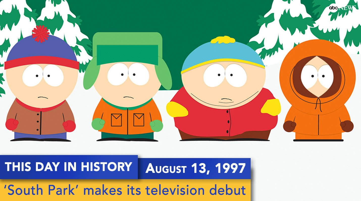 'South Park' debuted on television 20 years ago this weekend https://t.co/92cvrNr45I