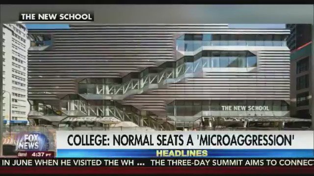 TAKE A SEAT: Normal sized chairs are considered a 'microaggression' that can hurt feelings at The New School https://t.co/SnwG7TT4VD