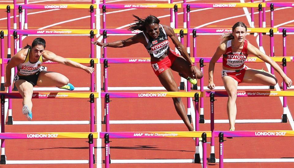 Trinidad and Tobago ace Deborah John out of World Championships after horror fall in 100m hurdles