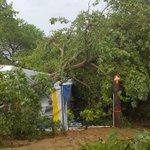 Minister gewond door onweer