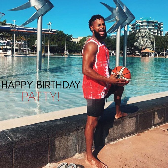 w/ When you\re on vacay & ball is life, even poolside.   Happy Birthday Patty!