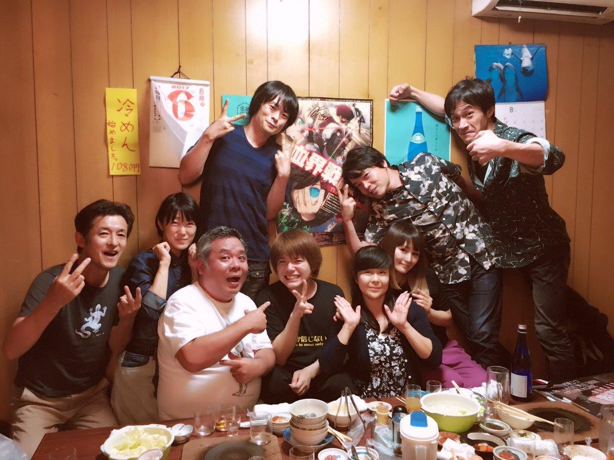 ◎小林ゆうですなう。先日、『血界戦線』原作者の内藤泰弘先生がお食事に連れて行ってくださいました!焼肉も美味しくて、とても