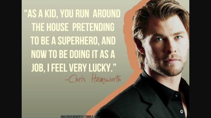 Happy Birthday to Chris Hemsworth! Thanks for all the great emotions!