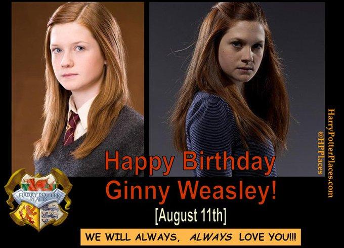 Happy Birthday to Ginny Weasley!