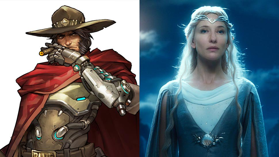 .@yakkopinky and @matthewmercer read #LOTR scenes as #Overwatch's McCree and P.J. Pete https://t.co/GsdaIPfs8w https://t.co/vEradkOuHE