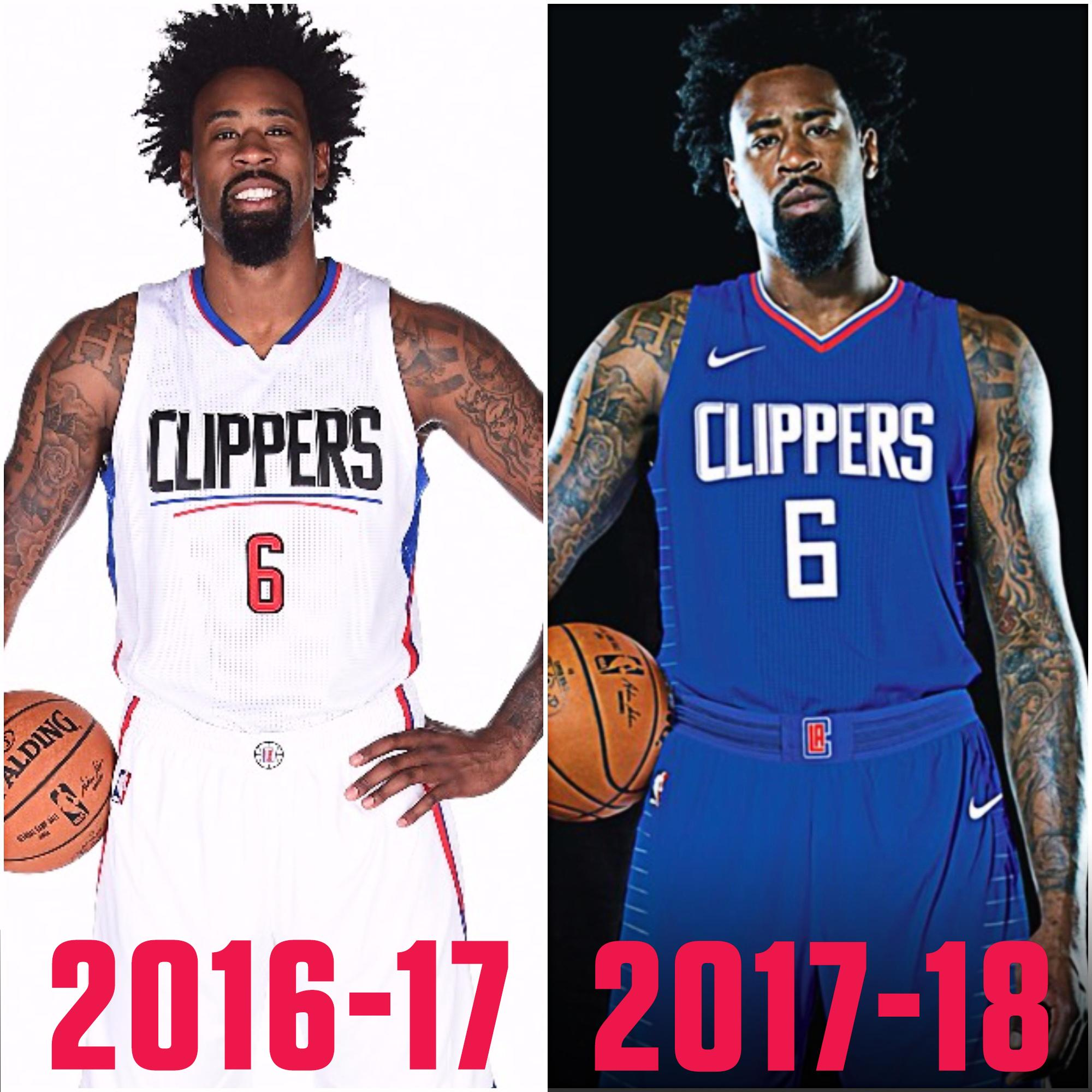The Clippers released their new uniforms.  Are they an upgrade from last season? (via @darrenrovell) https://t.co/JPTqpsMCXH