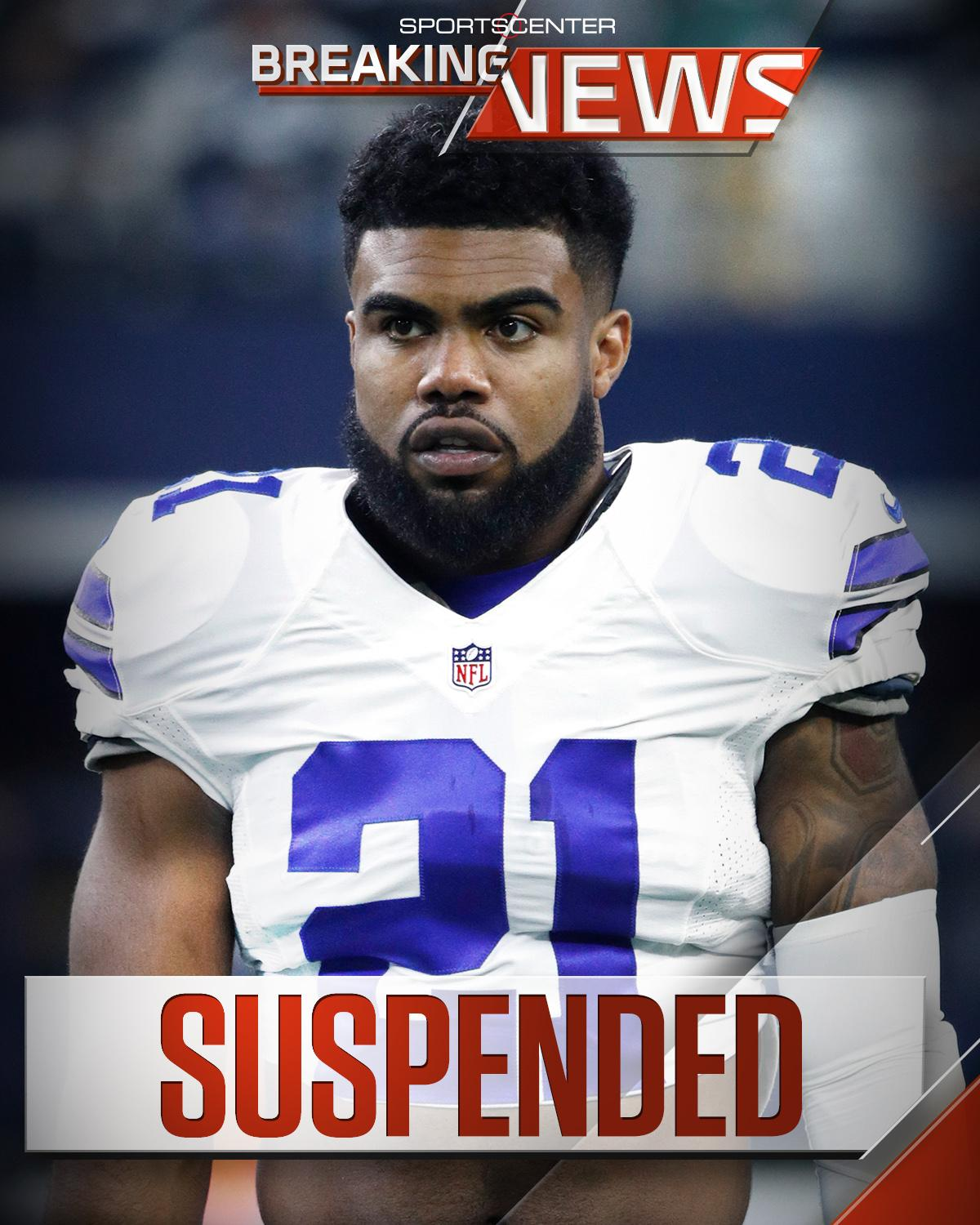 Ezekiel Elliott is being suspended 6 games, according to sources. (via @AdamSchefter) https://t.co/edGC6XNoFh